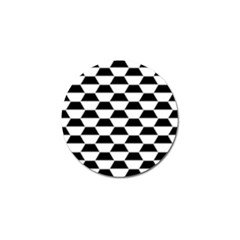 Hexagons Pattern Tessellation Golf Ball Marker (10 Pack)