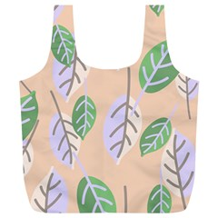 Leaf Pink Full Print Recycle Bag (xl)