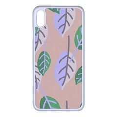 Leaf Pink Iphone Xs Max Seamless Case (white) by Jojostore