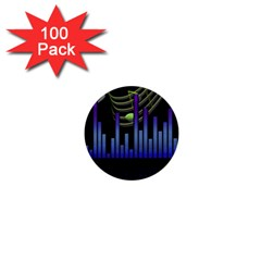 Speakers Music Sound 1  Mini Buttons (100 Pack)