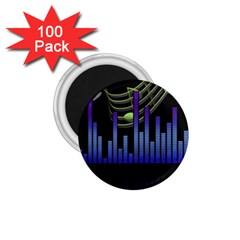 Speakers Music Sound 1 75  Magnets (100 Pack)