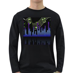 Speakers Music Sound Long Sleeve Dark T Shirt