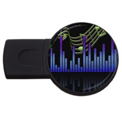 Speakers Music Sound Usb Flash Drive Round (4 Gb) by HermanTelo