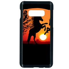 Sunset Horses Shadow Samsung Galaxy S10e Seamless Case (black)