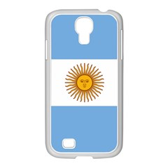 Argentina Flag Samsung Galaxy S4 I9500/ I9505 Case (white) by FlagGallery