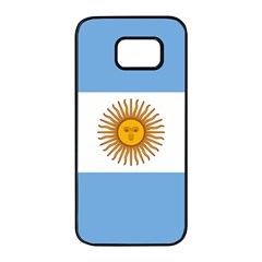 Argentina Flag Samsung Galaxy S7 Edge Black Seamless Case by FlagGallery