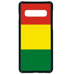 Bolivia Flag Samsung Galaxy S10 Seamless Case(black) by FlagGallery