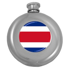 Costa Rica Flag Round Hip Flask (5 Oz) by FlagGallery