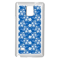 Wallpaper Background Blue Colors Samsung Galaxy Note 4 Case (white)