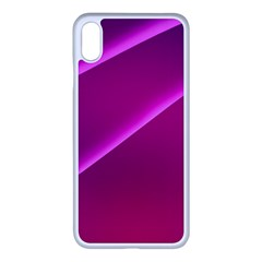 Pattern Purple Design Iphone Xs Max Seamless Case (white)