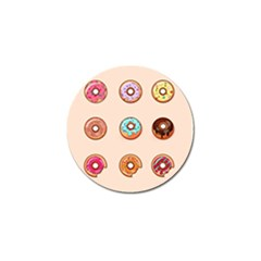 Donut Sweets Baking Food Tasty Golf Ball Marker (10 Pack) by Pakrebo