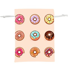 Donut Sweets Baking Food Tasty  Lightweight Drawstring Pouch (xl)