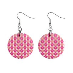 Sakura Flower Pattern Mini Button Earrings by Pakrebo