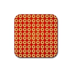 Wallpaper Illustration Pattern Rubber Square Coaster (4 pack)