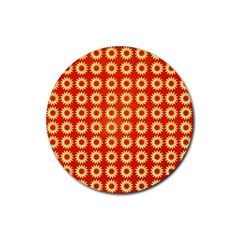 Wallpaper Illustration Pattern Rubber Round Coaster (4 pack)