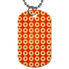 Wallpaper Illustration Pattern Dog Tag (Two Sides)