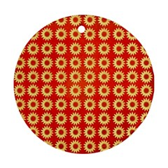 Wallpaper Illustration Pattern Round Ornament (Two Sides)
