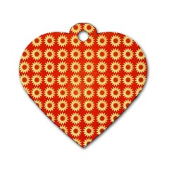 Wallpaper Illustration Pattern Dog Tag Heart (Two Sides)