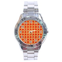 Wallpaper Illustration Pattern Stainless Steel Analogue Watch