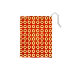 Wallpaper Illustration Pattern Drawstring Pouch (Small)