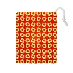 Wallpaper Illustration Pattern Drawstring Pouch (Large)