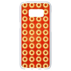 Wallpaper Illustration Pattern Samsung Galaxy S8 White Seamless Case
