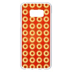 Wallpaper Illustration Pattern Samsung Galaxy S8 Plus White Seamless Case