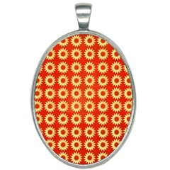 Wallpaper Illustration Pattern Oval Necklace