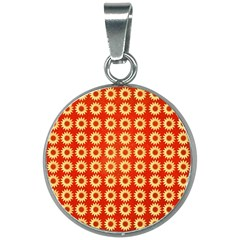 Wallpaper Illustration Pattern 20mm Round Necklace