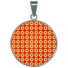 Wallpaper Illustration Pattern 30mm Round Necklace