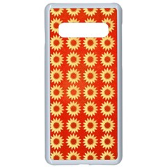 Wallpaper Illustration Pattern Samsung Galaxy S10 Seamless Case(White)