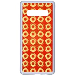 Wallpaper Illustration Pattern Samsung Galaxy S10 Plus Seamless Case(White)