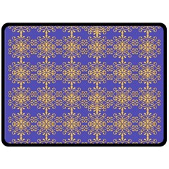 Pattern Wallpaper Ornament Retro Double Sided Fleece Blanket (large)