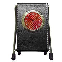 Pattern Textile Structure Abstract Pen Holder Desk Clock by Pakrebo