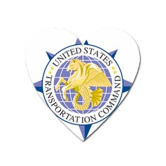 Emblem Of United States Transportation Command Heart Magnet by abbeyz71
