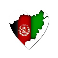 Afganistan Flag Map Heart Magnet by abbeyz71
