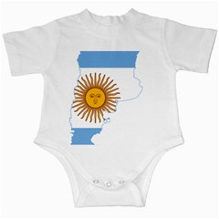Flag Map Of Argentina & Islas Malvinas Infant Creepers
