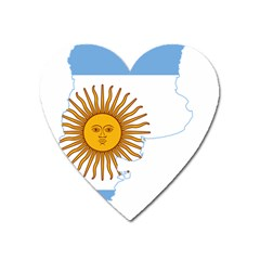 Flag Map Of Argentina & Islas Malvinas Heart Magnet by abbeyz71