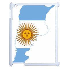 Flag Map Of Argentina & Islas Malvinas Apple Ipad 2 Case (white) by abbeyz71
