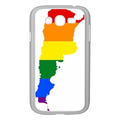 Lgbt Flag Map Of Argentina Samsung Galaxy Grand Duos I9082 Case (white) by abbeyz71