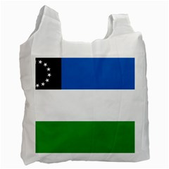 Flag Of Argentine Province Of Río Negro Recycle Bag (two Side) by abbeyz71