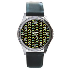 Pride Rainbow Flag Pattern Round Metal Watch by Valentinaart