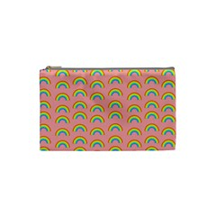 Pride Rainbow Flag Pattern Cosmetic Bag (small) by Valentinaart