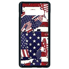 Usa Flag Pattern Samsung Galaxy S10 Plus Seamless Case (black) by designbywhacky