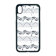 Notes Lines Music Iphone Xr Seamless Case (black)