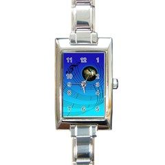 Music Reble Sound Concert Rectangle Italian Charm Watch by HermanTelo
