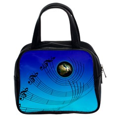 Music Reble Sound Concert Classic Handbag (two Sides) by HermanTelo