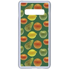 Background Fruits Several Samsung Galaxy S10 Plus Seamless Case(white)