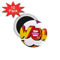Wow Mouth Polka Pop 1 75  Magnets (10 Pack)