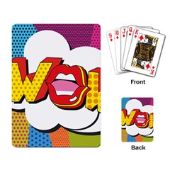 Wow Mouth Polka Pop Playing Cards Single Design (rectangle)